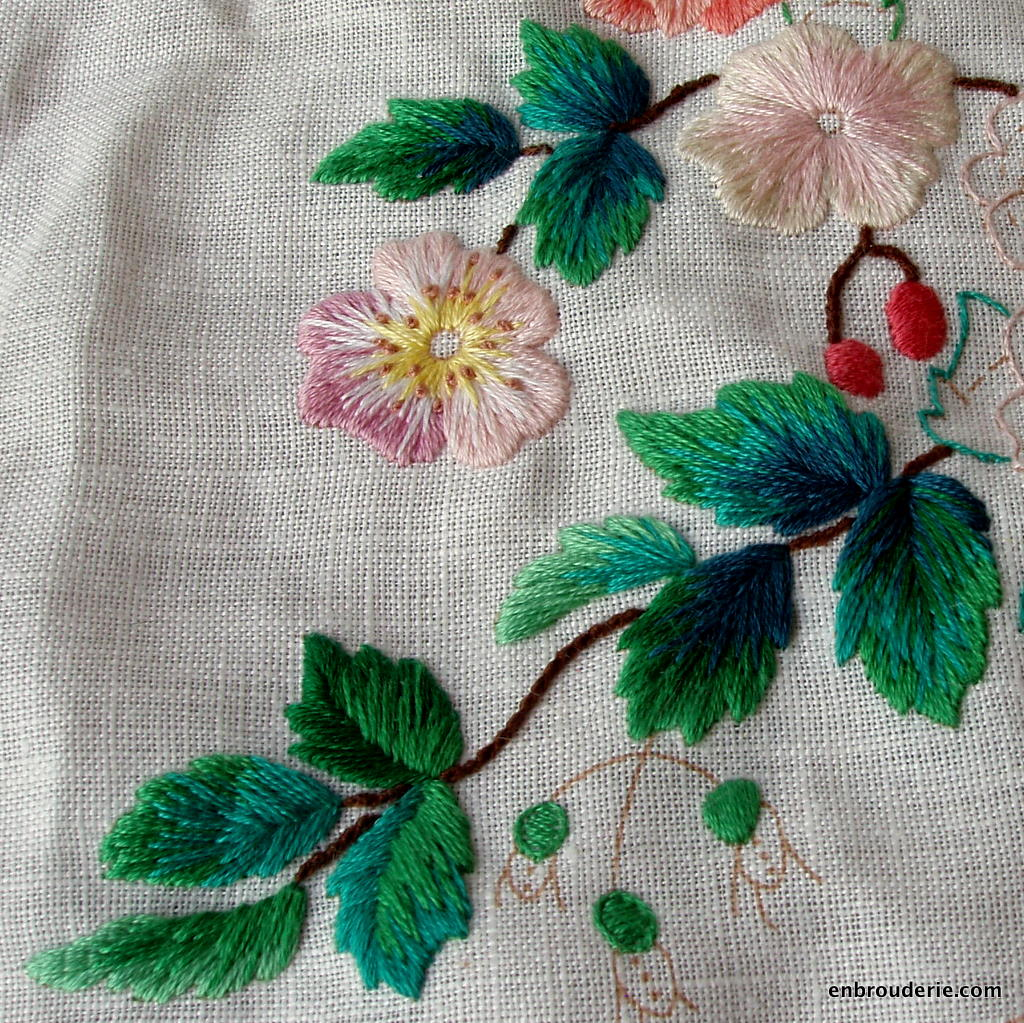 Embroidery for ducks enbrouderie page