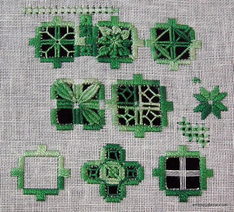 Hardanger sampler embroidery for ducks