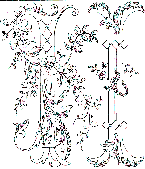 Free Coloring Pages Of Fancy Alphabet Letters