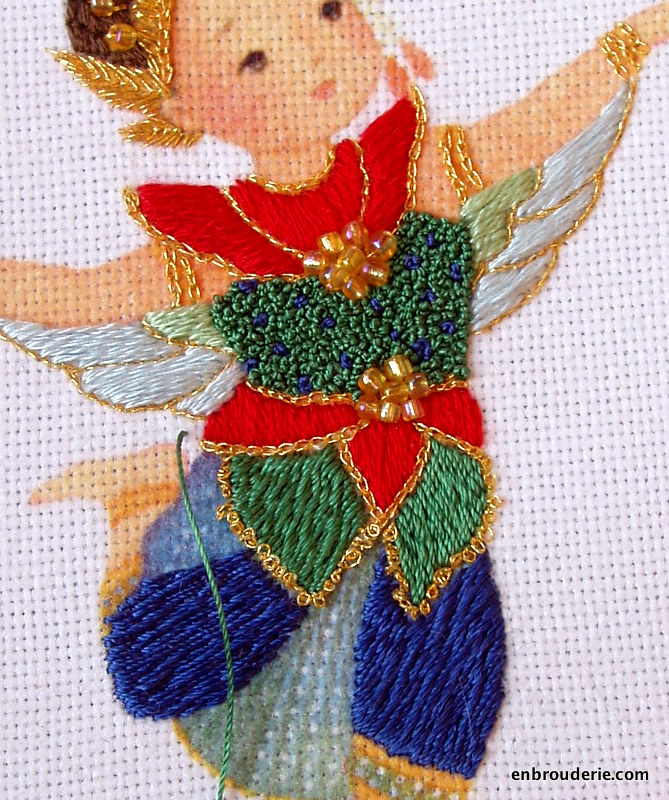 Manohra Thai Dance Romanian Couching Embroidery For Ducks