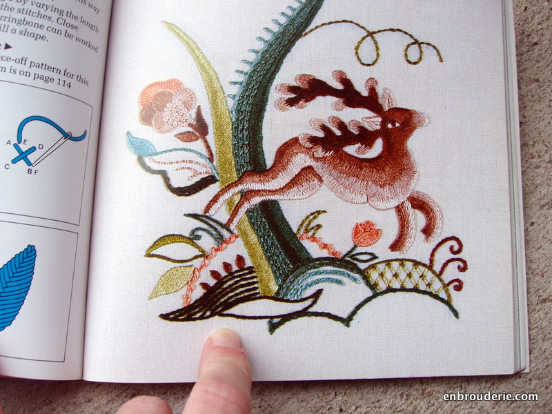 Book Review The Anchor Book Of Crewelwork Embroidery Stitches   Embroidery For Ducks