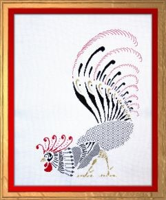 blackwork rooster